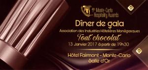 Dîner de Gala de l'AIHM 13 janvier 2017 – Fairmont monte-Carlo