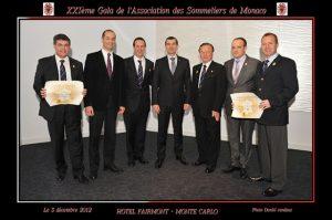 XXIéme Gala des sommeliers de Monaco au Fairmont Monte Carlo